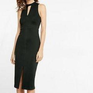 Black Choker Sheath Dress